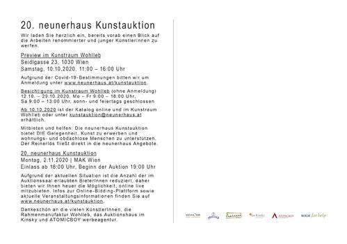 20. neunerhaus Kunstauktion