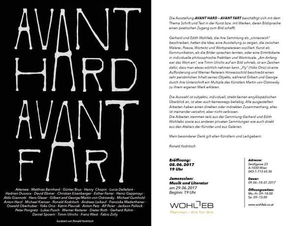 "Ausstellung ""AVANT HARD - AVANT FART"""
